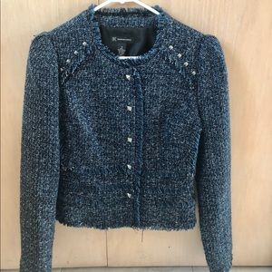 INC Boucle Blazer Jacket w Rivet Detail Size S